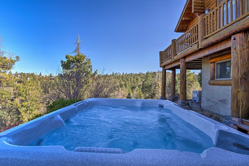 Soak in the hot tub after a day on the slopes!