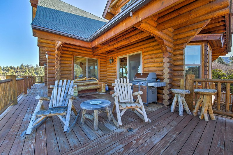 Grill out and enjoy the fresh air on the large deck.