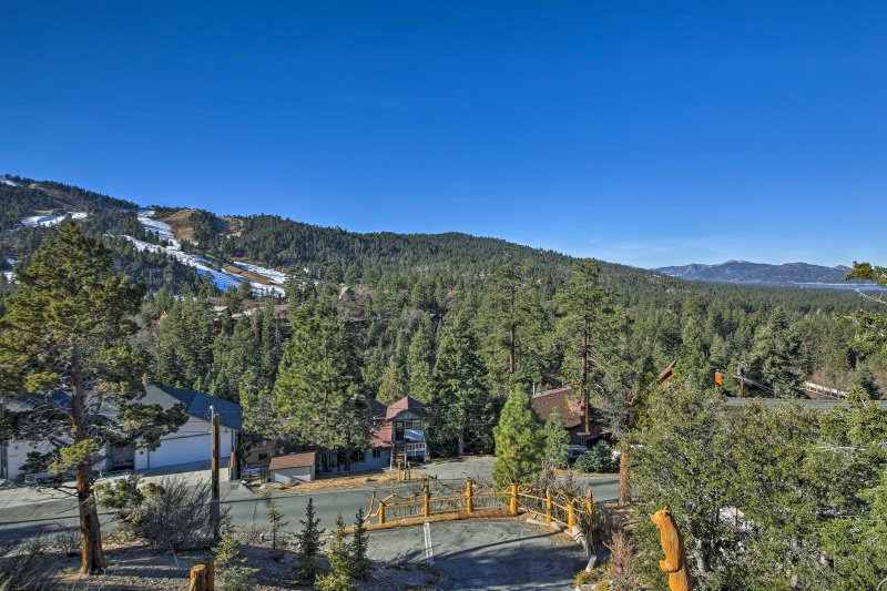 Views of Big Bear Mountain will entice your sense of adventure!