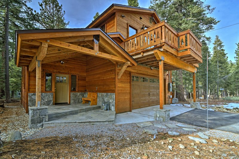 This gorgeous Tahoma  vacation rental home is the perfect retreat by Lake Tahoe.