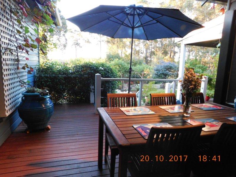 balcon privé pour se détendre écouter le chant des oiseaux et profiter du vin de Margaret River