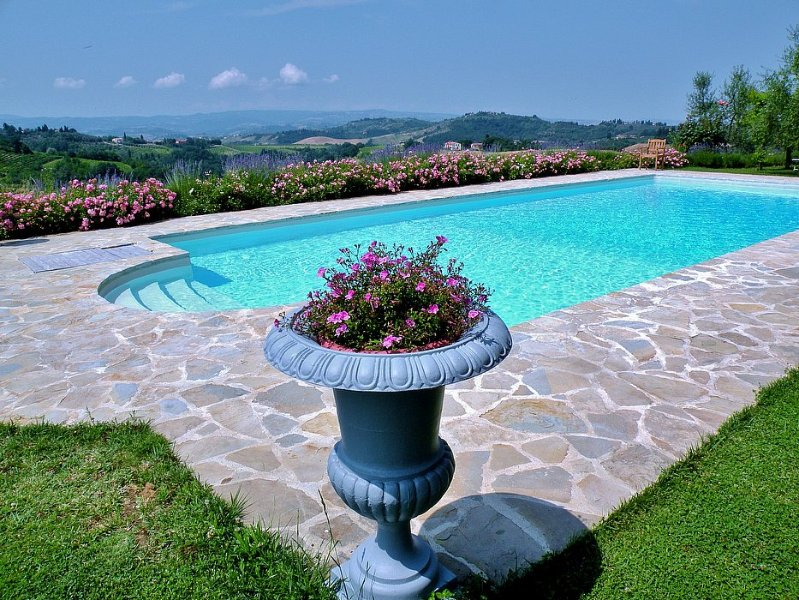 San Martino a Maiano Villa Sleeps 8 with Pool Air Con and WiFi - 5573565, holiday rental in Gorgognano
