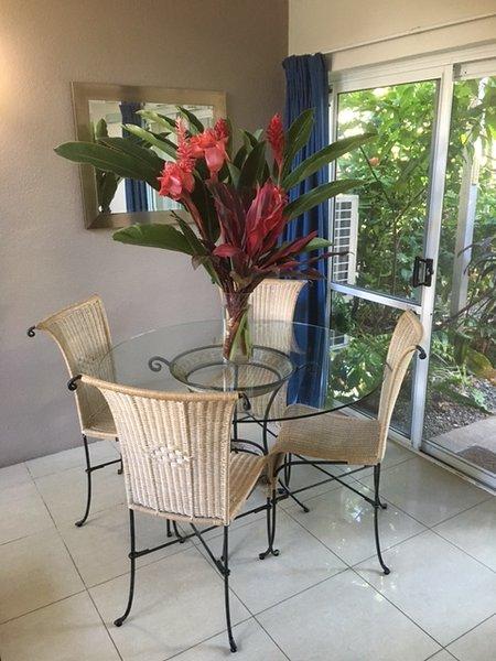 Dining overlooking Tropical Gardens