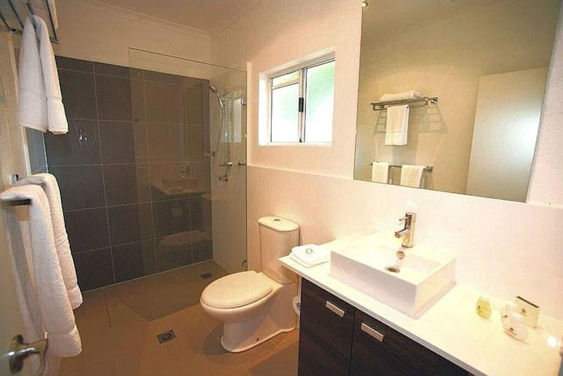 Main bathroom adjacent to both bedrooms. A second shower / toilet is on the ground floor