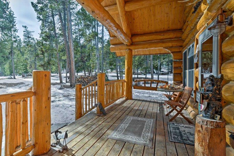 Échapper à la montagne et de rester dans ce charmant chalet de location de vacances à Fairplay!
