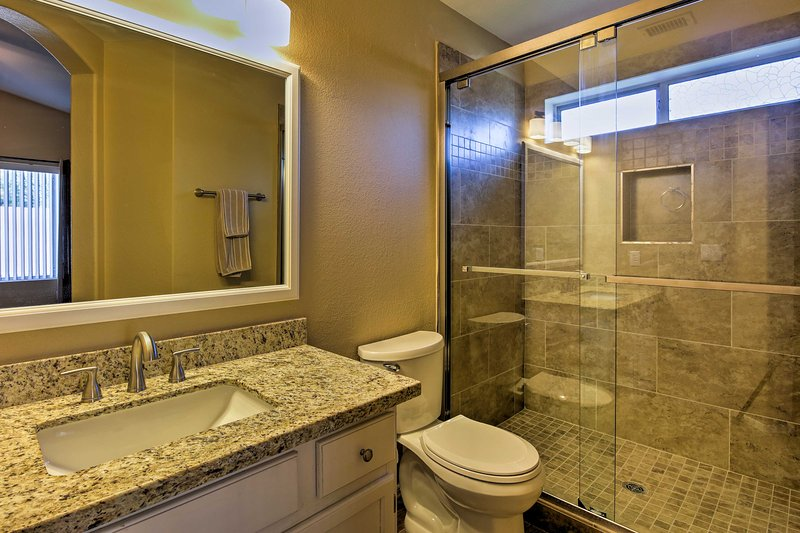 Morning routines will be a breeze in the en-suite bathroom.