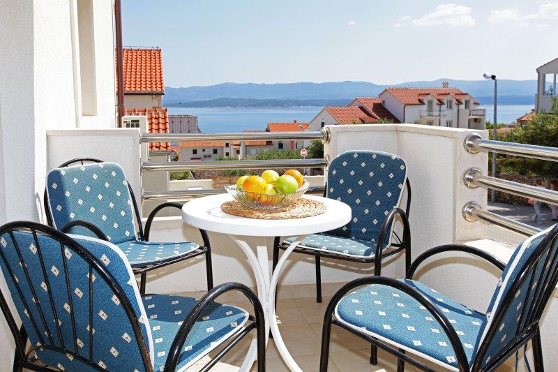 Balkon met een geweldig uitzicht op zee