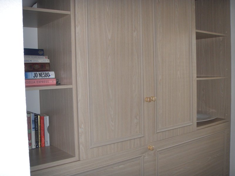 with storage space