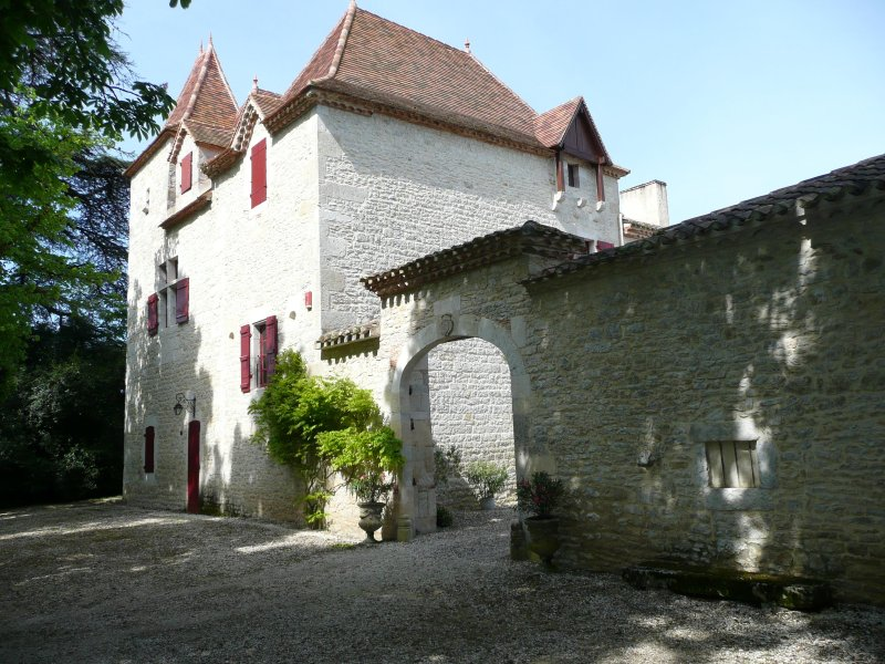 Chateau with Pool, Tennis, BBQ,  Piano, location de vacances à Sérignac