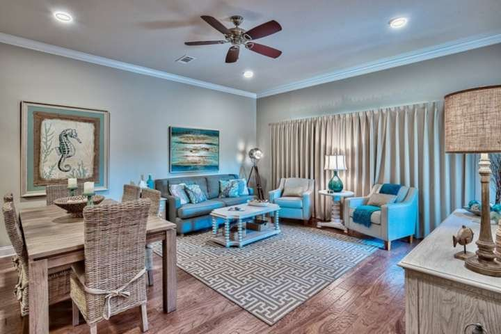 Elegantly recored living and dining rooms