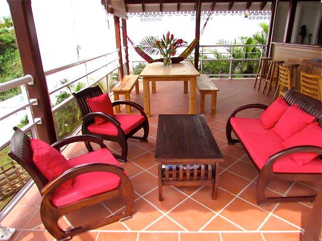 mesas en la terraza
