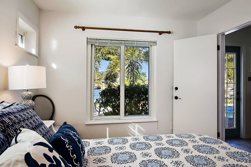 Master bedroom with great views.
