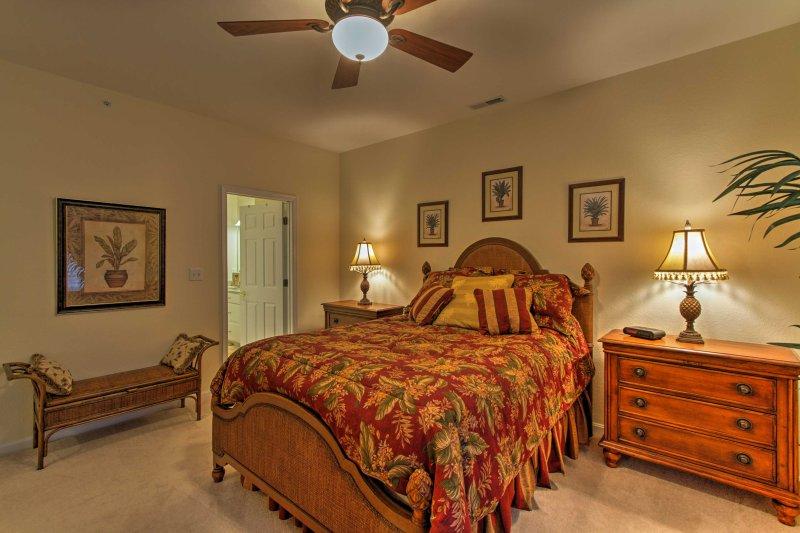 La camera da letto ben arredate, dispongono di un letto matrimoniale.