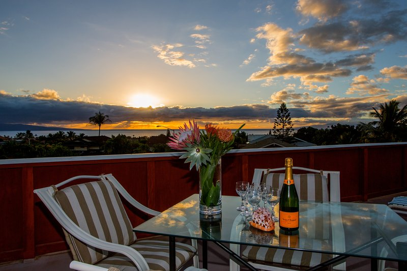 Enjoy these stunning sunset views every night from your private Rooftop Deck!