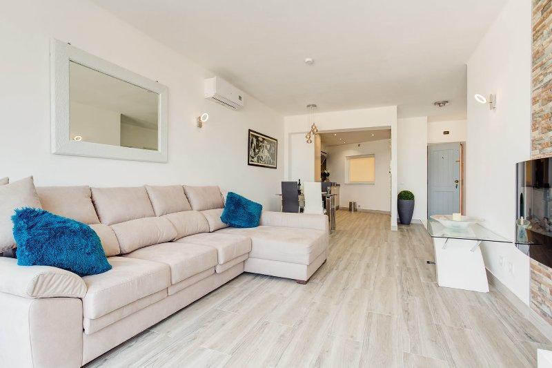 sala de estar aberta estilo plano