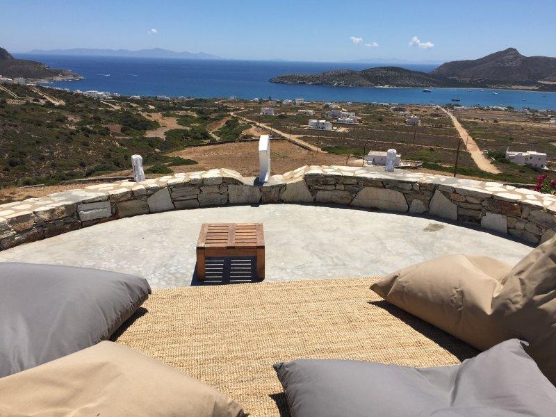 vistas panorámicas del santuario meridional Egeo y Despotiko