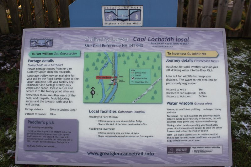 Great Glen Way and the Caledonian Canal.