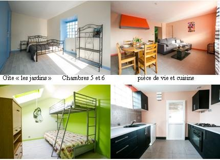 """cottage """"gardens"""" room 4 and 5, living room, kitchen"""