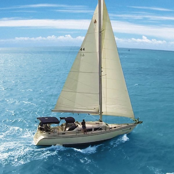 Reserve this one of a kind 45' sailing yacht and have it all to yourselves!