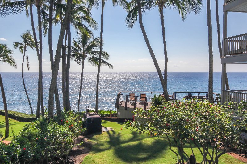 Beautiful Ocean View from Poipu Palms 102