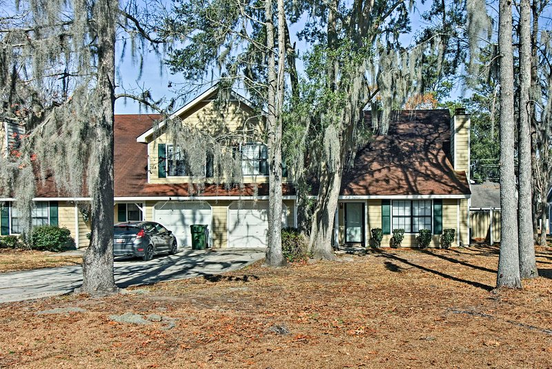 Spanish moss adds a touch of romanticism to the property.