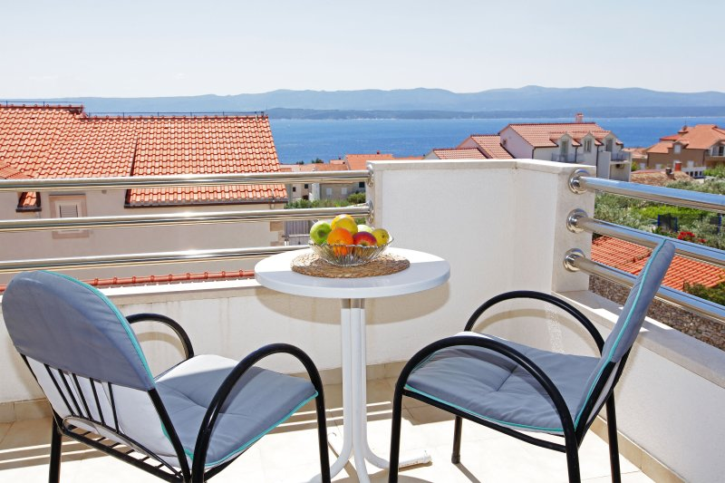 balcony with sea view