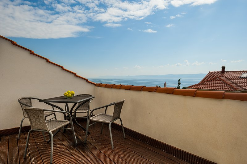 spacious terrace with superb sea view