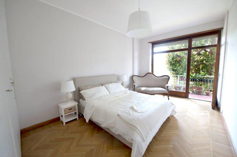 bedroom overlooking the river