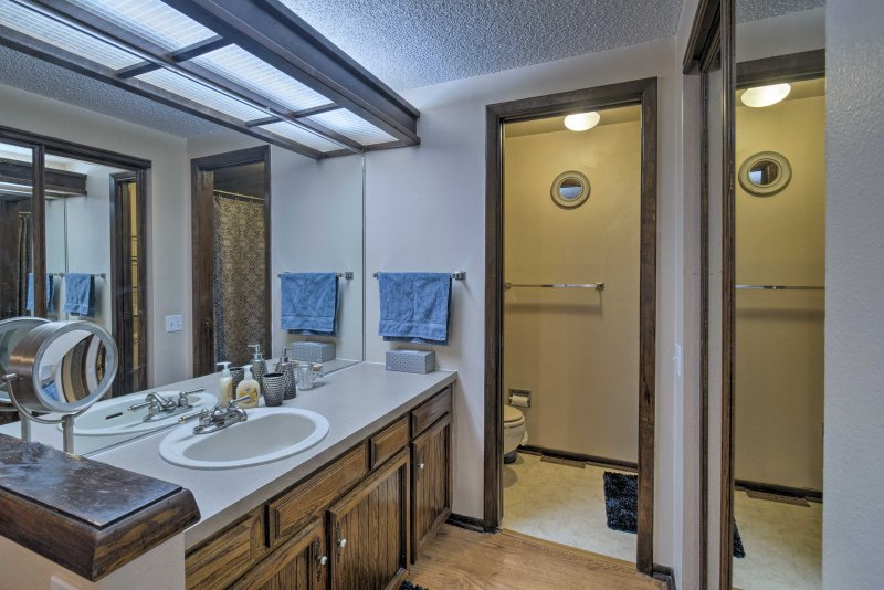 The en-suite bathroom is complete with a walk-in shower.