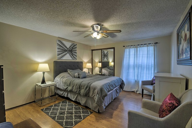 Retreat to the master bedroom for a good night's sleep!