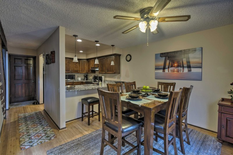 The home also offers a 2-person breakfast bar.