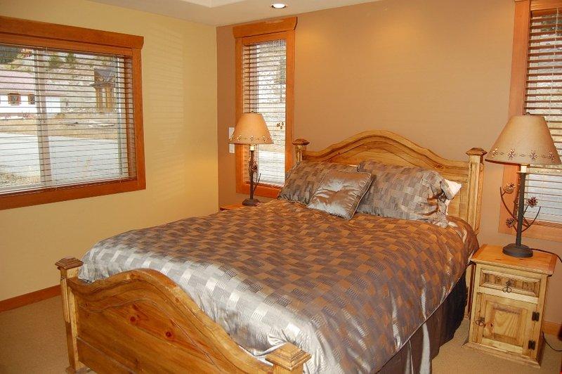 Get a good night's sleep in the master bedroom.