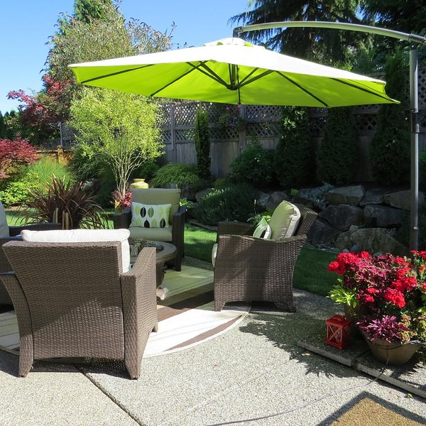 Lovely Private Outdoor Seating Area