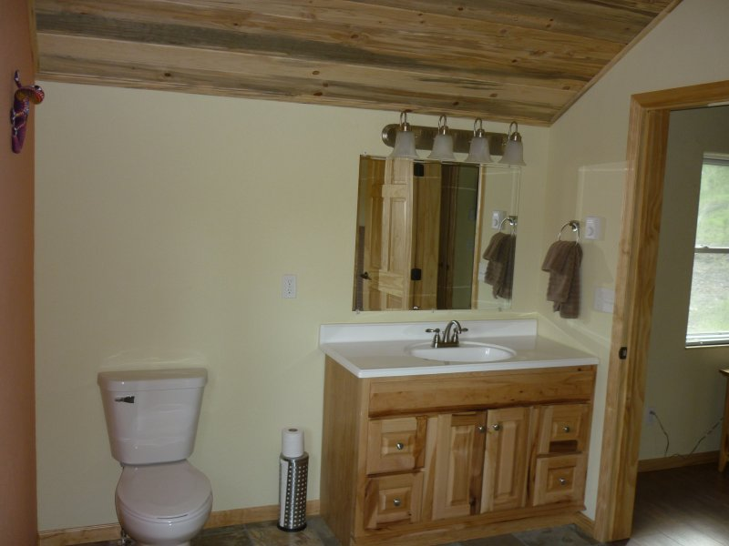 Half of the loft bath