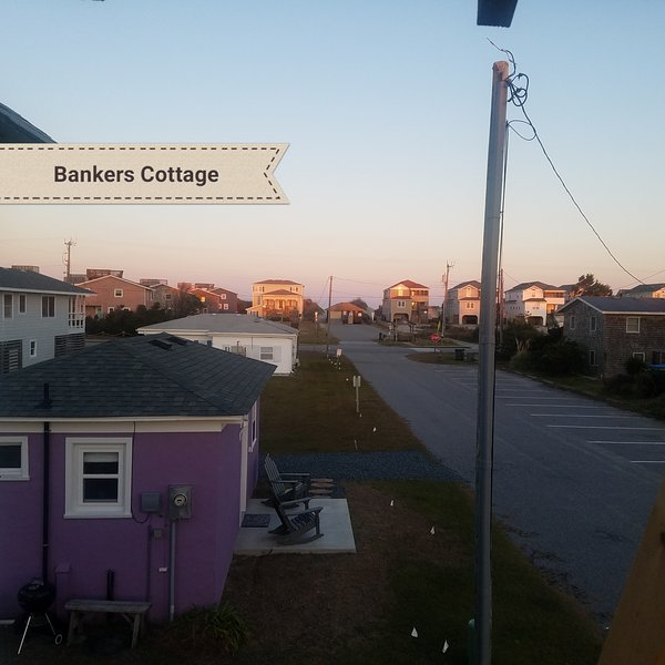 Just a short walk across the street to the beach access - with showers and restrooms!