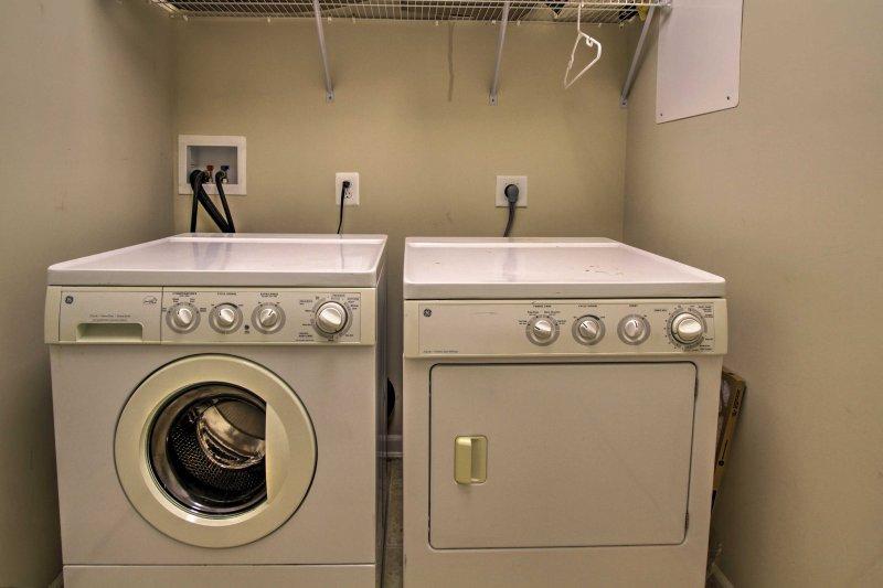 Vous vous sentirez à l'aise avec l'ajout de machines à laver en unité.