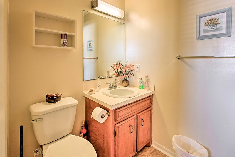 The home provides 2 full bathrooms.