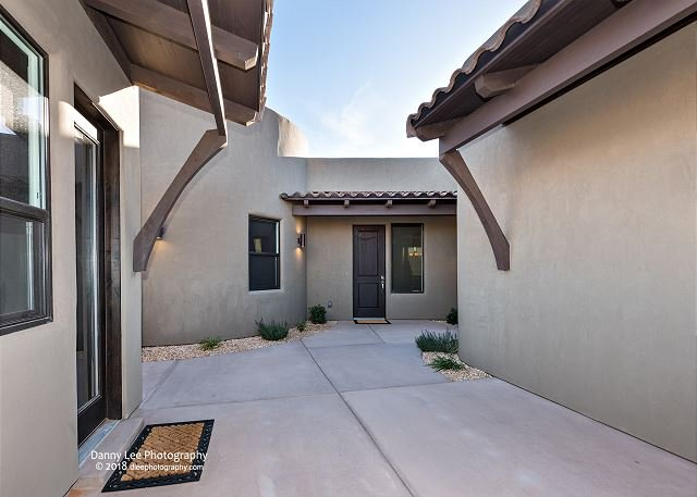 Courtyard & Front Door