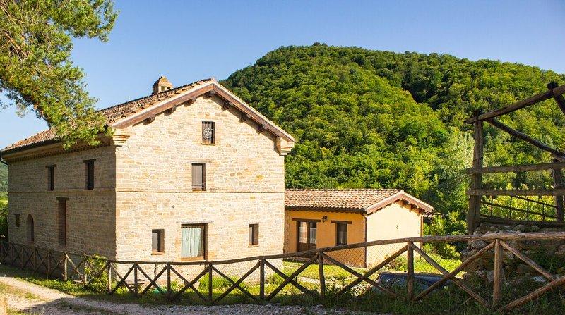 La propiedad está cerca de la histórica Amandola, y fácil de conducir a lugares de interés y rutas de senderismo de Marcas