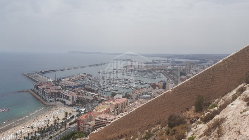 Port of Alicante from the Castillo de Santa Barbara