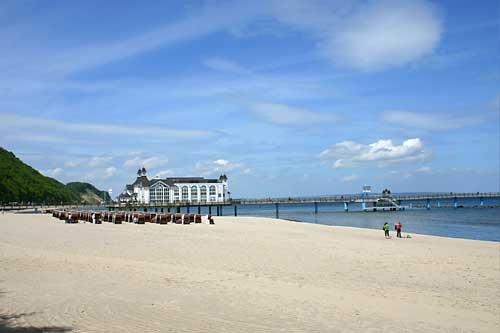 Op het strand bij de pier