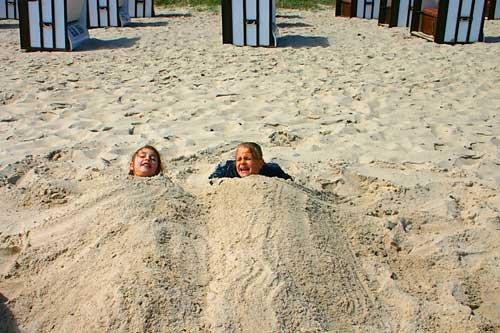 Fun at the beach of Sellin
