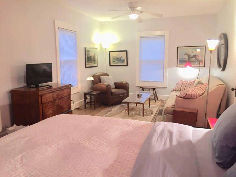 Vardagsrum i sovrummet