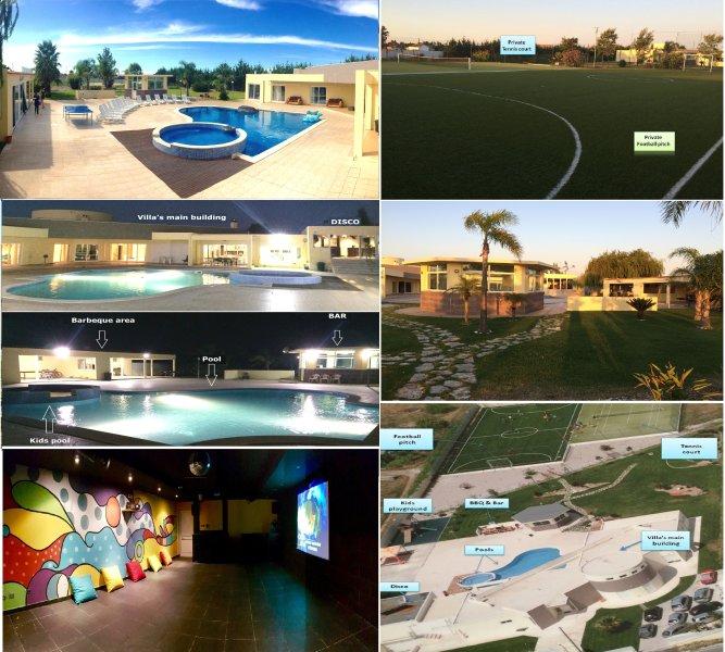 Huge villa in PT! 2 Pools, Football, Tennis, Cinema, Disco, BBQ! Breakfast incld, holiday rental in Vendas Novas