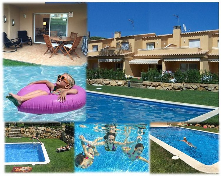 95m2 house, 6 sleeps, 3 bedrooms, 3 private terraces, garden, pool roman stairs. Please ask  :-)
