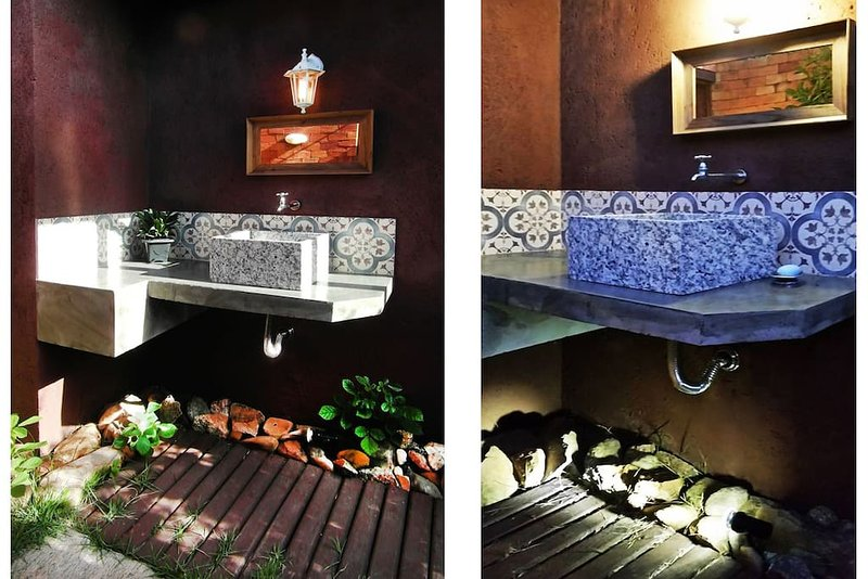 espace commun - salle de bains barbecue