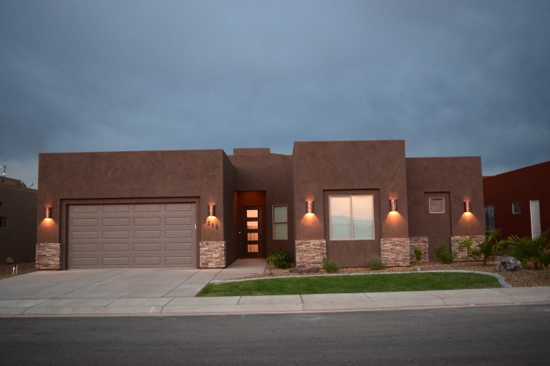 Front of Home at Dusk