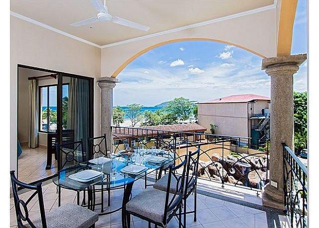Exquisite balcony overlooking the pool!