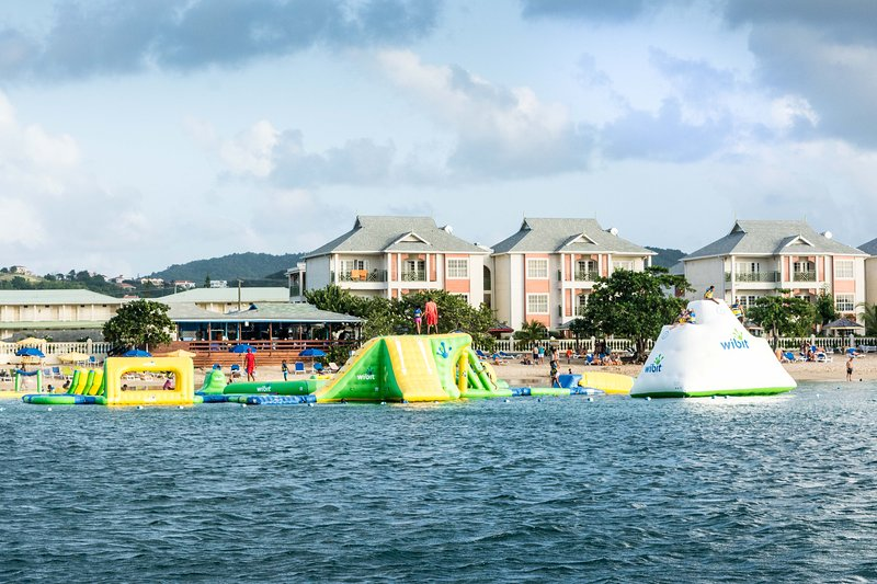 Water Park at one end of the Reduit Beach