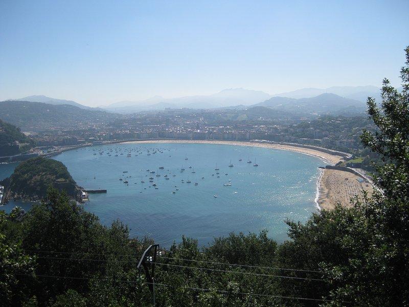 San Sebastian bay. you can take an old train up here
